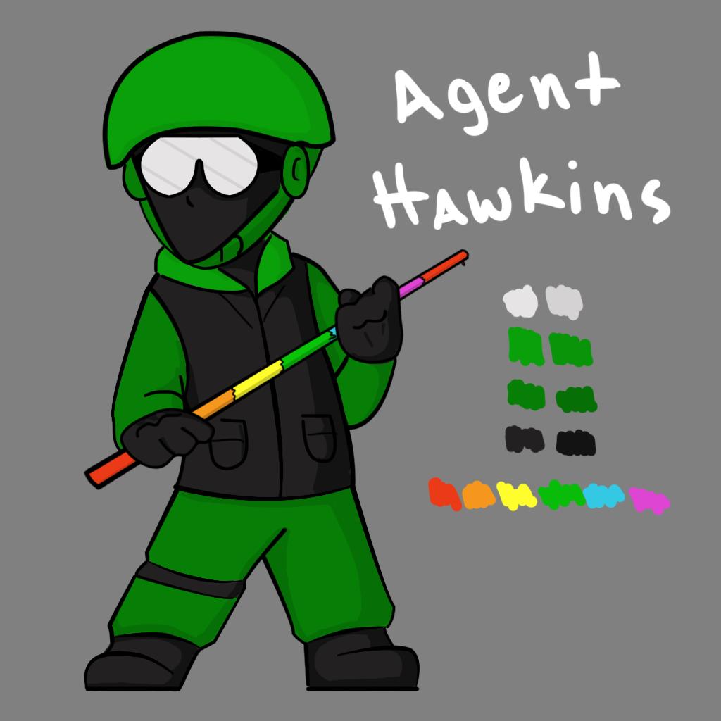 Agent Hawkins Concept Art