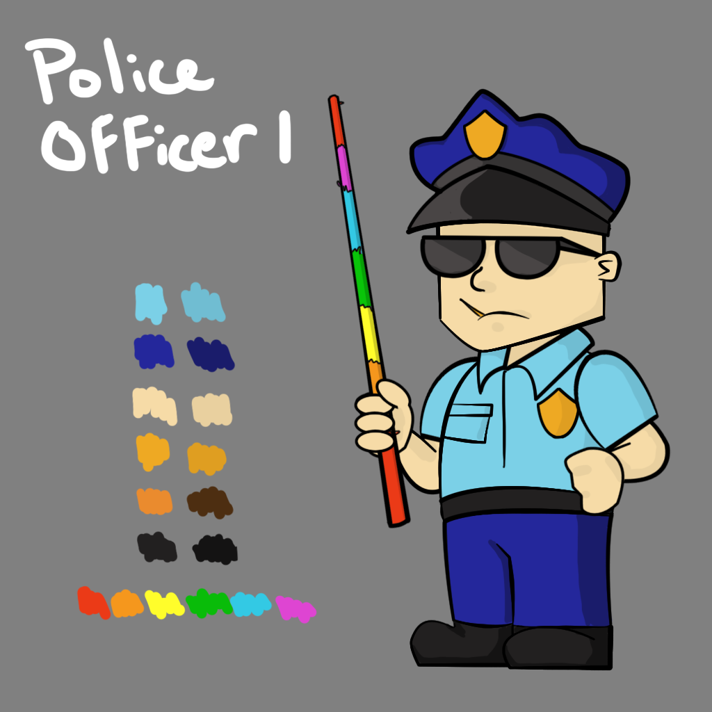 Police Officer 1 Concept Art