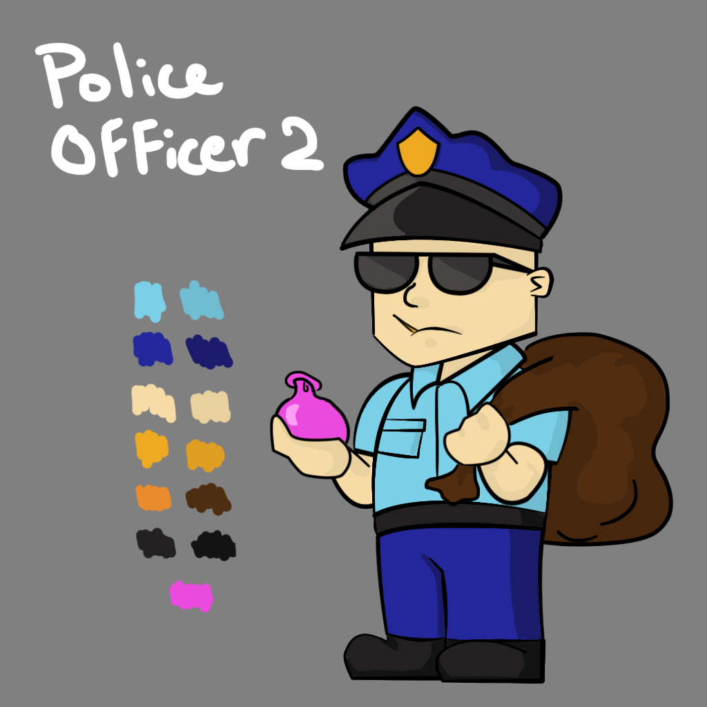 Police Officer 2 Concept Art