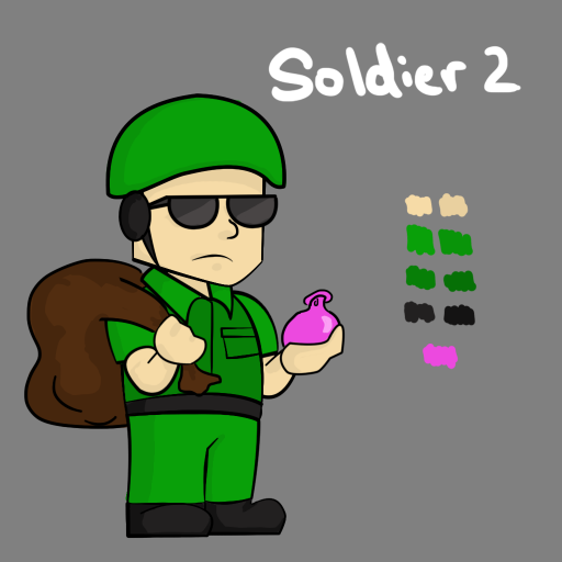 Soldier 2, like Officer 2, throws water balloons, but is a bit tougher.