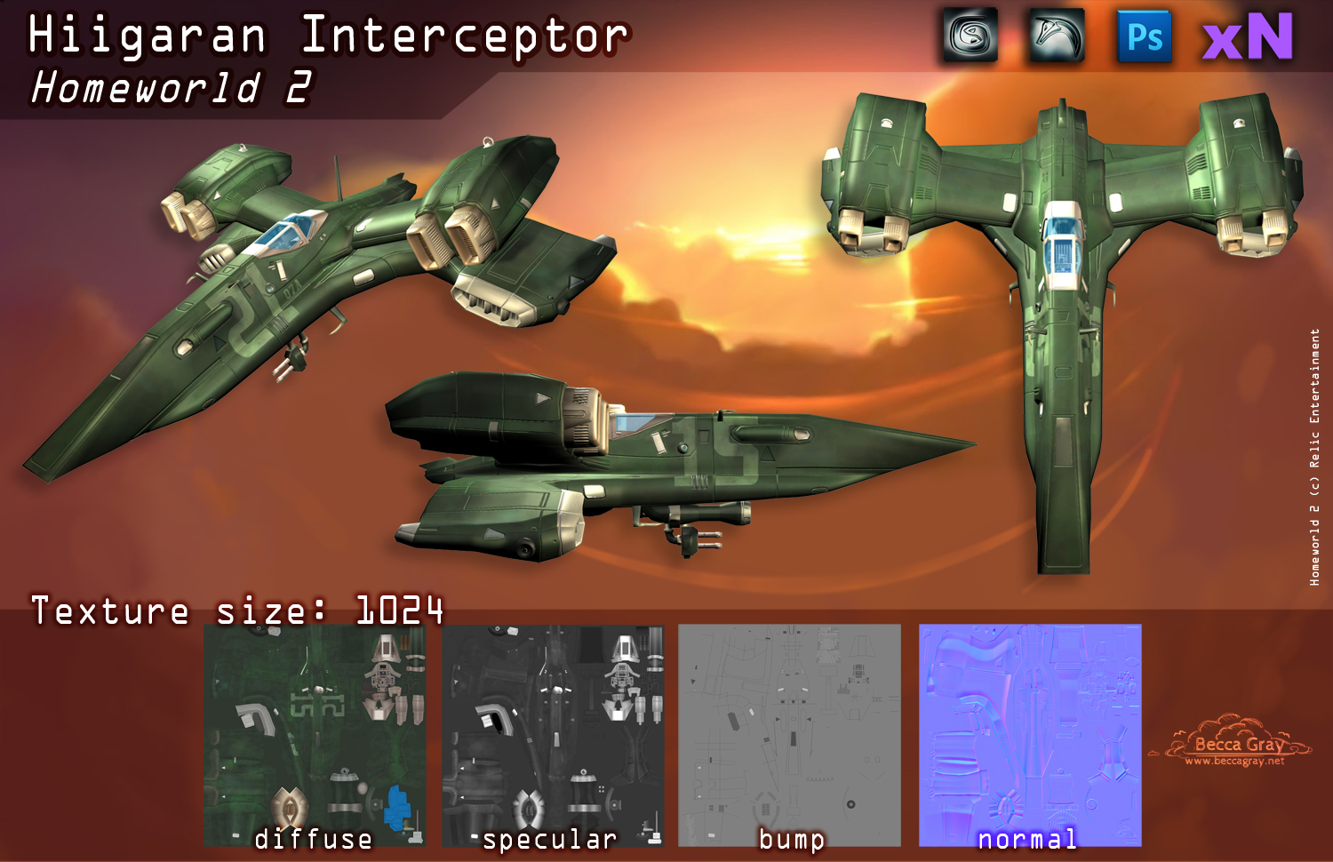 Interceptor Render Sheet and Textures